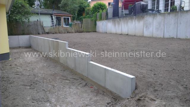 beton palisaden granit palisaden l stein. Black Bedroom Furniture Sets. Home Design Ideas