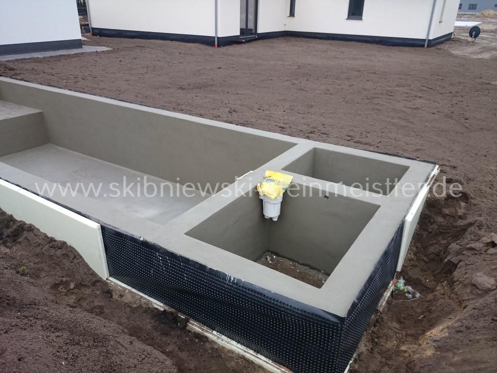 bodenplatten & unterbau für pool